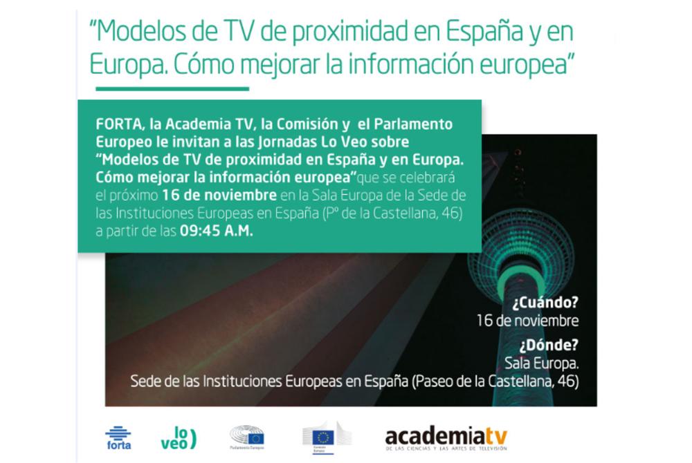Jornada 'Modelos TV proximidad España y Europa. Cómo mejorar la información europea'