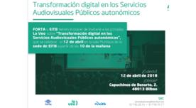 Jornada sobre transformación digital en los servicios audiovisuales públicos autonómicos
