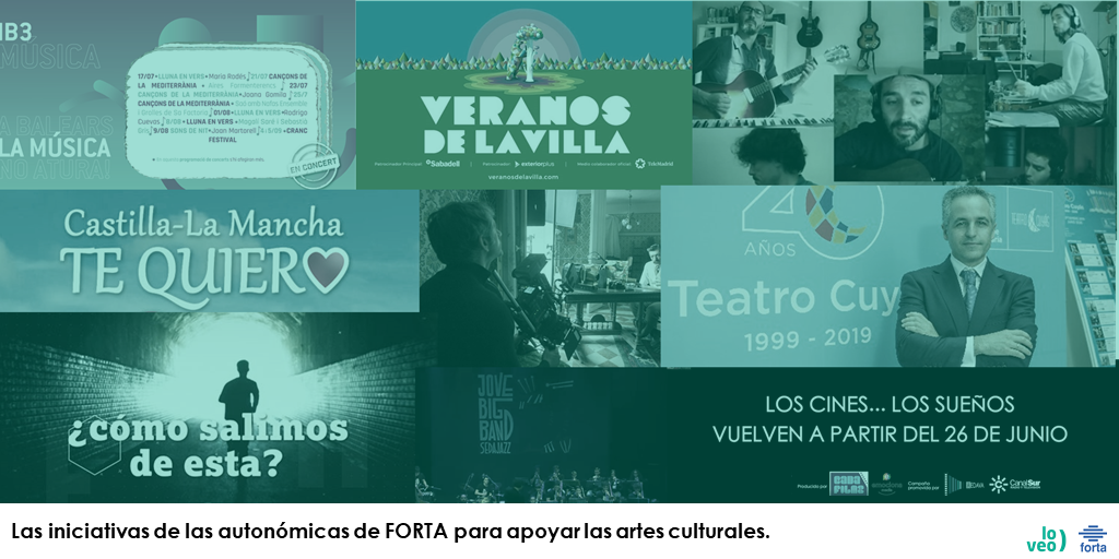 """Las autonómicas se ponen """"manos a la obra"""" para ayudar al cine, la música y demás artes culturales"""