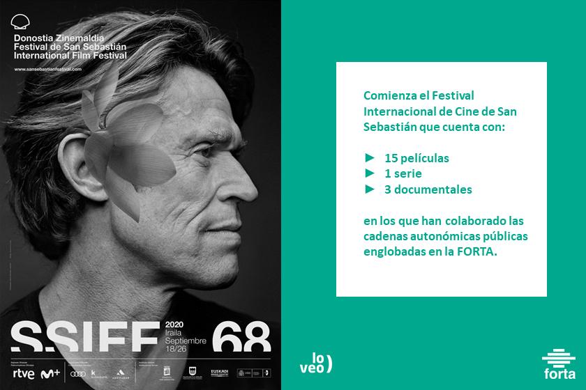 19 producciones cinematográficas apoyadas por la FORTA se estrenarán en el Festival Internacional de cine de San Sebastián