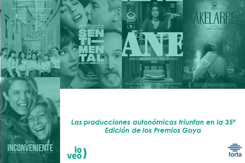 Las producciones autonómicas triunfan en la 35ª Edición de los Premios Goya